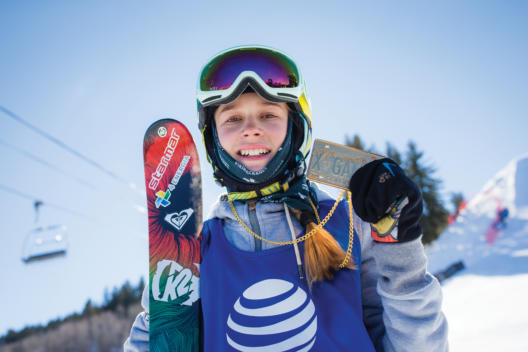 Aspen, CO - January 29, 2016 - Buttermilk Mountain: Kelly Sildaru competing in Women's Ski SlopeStyle Final during X Games Aspen 2016